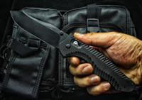 черные ножи бабочки оптовых-High End бабочка 810BK Тактический складной нож D2 Черный титан покрытием клинка G10 Handle EDC Карманный нож Xmas Gift EDC Шестерня