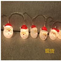 ingrosso il punto della batteria ha condotto la luce-Spot led Santa snowman lantern string Christmas decorative light box