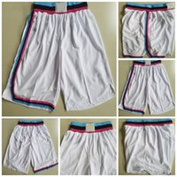 Wholesale quality outlet - Factory Outlet Mens Miami White Color Best Quality Cheap Basketball Shorts Size S-XXL Accept Mix Order Free Shipping