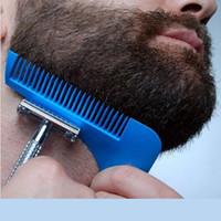 echter sex zum verkauf großhandel-Neue Heiße Verkauf Echt Haarbürste Haar Kamm Bart Formwerkzeug Sex Mann Gentleman Trim Vorlage Haar Geschnitten Modellierung Werkzeuge