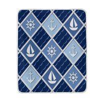 couvertures de marine achat en gros de-Marine Anchor Boat Couverture Bleu Marine Doux Chaud Confortable Couch Lit Doux Polyester Microfibre Couverture Jet