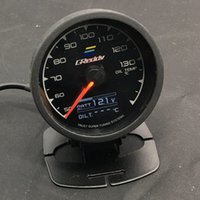 Wholesale race display - Free Shipping 62mm 7 Color in 1 Racing GReddy Multi D A LCD Digital Display Oil Temp Gauge Oil Temperature Sensor