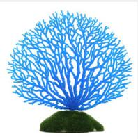 suni akvaryum mercan bitkileri toptan satış-Silikon Reçine Balık Tankı Dekorasyon Sahte Mercan Deniz Çevre Akvaryum Yapay Bitki Süsler Drop Shipping