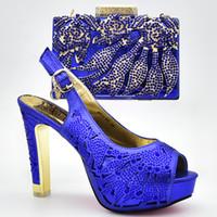 tacones de garras al por mayor-Los más nuevos zapatos italianos con bolsos a juego Bombas de alta calidad para mujer Zapatos de tacón alto y clutches Wedding Party Shoes