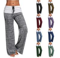 Pantaloni sportivi larghi del piedino di yoga delle donne Pantaloni  sportivi casuali dei pantaloni di Harem di modo Pantaloni della signora  delle ghette di ... b65e92754dd6
