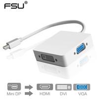 ingrosso cavi di alimentazione ac-3 in 1 Adattatore cavo porta DisplayPort a HDMI / DVI / VGA Mini DP Display per Apple MacBook Pro