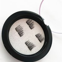 Wholesale human hair lowest prices resale online - MakeUp Hot Sell Double Magnetic Eye Lashes D Reusable Fasle Eyelash Without Glue Price DHL Ship