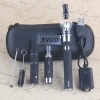 evod vaporizer starter kit großhandel-1100mAh 4 in 1 Starter Kits EVod Vaporizer CE3 Tankpatronen Kit Dry Herb Dab Pen Kit Wachsöl Vapes 510 Thread Batterie Super Vape Pens