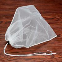 grandes sacos de chá venda por atacado-34 * 37 cm Grande Saco De Malha De Filtro De Alimentos Reutilizáveis Leite Café Tempero Coador Sopa Sacos De Cordão Do Chá ZA6748