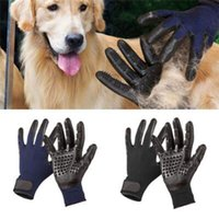 Wholesale horses products - 2pcs pair Pet Grooming Gloves Hair Remover Brush for Dogs Cats Horses with Long or Short Fur Mitt Comb for Relaxing CCA9583 150pair