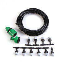 Wholesale patio garden sets - Water Misting Cooling System Hose Sprinkler Nozzle Garden Patio Micro Irrigation Set