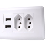 Wholesale 15a charger resale online - Wall Power Brazil Socket A Brasil Standard Double Soquete V mA Dual USB Charger Port mm mm AC V