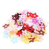 strass perlas para manualidades al por mayor-Starlet Shape 12mm Acerca de 2000 unids 19 Colores Flatback Half Pearls Rhinestone Para Nail Art Celular DIY Joyería Artesanía Decoraciones
