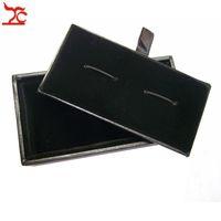 Wholesale 20Pcs Men's Cufflinks Box Classicia Black Cufflink Package Storage Gift Boxes 8x4x3cm
