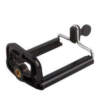 üçayak tabanı toptan satış-Hafif Mini Kelepçe Kamera Adaptörü Tripod Dağı Bankası braketi Klip Telefon Tutucu Tripod Monopod Klip Için Özçekim Klipler Klip 5.5 cm 8.5 cm