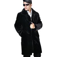 Wholesale Cheapest Men Furs - CAF300- NEW CHEAPEST FASHION Winter MEN Long Faux Fur Coat Black Warm Thick Fur Coat Men
