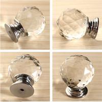 ingrosso cassetti moderni-Moda moderna K9 Glass Knob Crystal cabineDiamond Furniture Maniglie Hardware cassetto Armadio da cucina Armadietto Door Pull Knobs