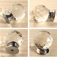 Wholesale kitchen cupboard crystal handles for sale - Group buy Modern Fashion K9 Glass Knob Crystal cabineDiamond Furniture Handles Hardware Drawer Wardrobe Kitchen Cabinets Cupboard Door Pull Knobs