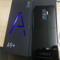 smartphone lte desbloqueado venda por atacado-Novo A9 + Desbloqueado smartphone Android 7.1 Goophone A9 PLUS 4G LTE Octa Núcleo 6.0 '' octa núcleo 1 / 8G falso 4 GB de RAM 256 GB ROM com célula de impressão digital
