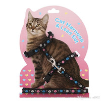 Discount types led lighting - Fashion Pet Traction Rope Plaster Double Deck Heart Type Cartoon Cute Kitten Chain Ropes Cat Harness Lead Set 3 8sz ii