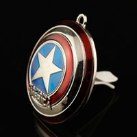 Wholesale Air Conditioning Vent Accessories - New brand Auto car air outlet conditioning vent perfume Clip The Avengers Cartoon cars flavoring smell scent ionizer Accessories