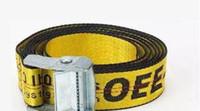 Wholesale Alloy Stock - in stock Hot O-white Belt Unisex Hip Hop Fashion Style Skateboard luxury belts 200CM(can be shortened) wholesale Free shipping