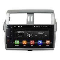 control de radio chino al por mayor-Reproductor de DVD del coche para Toyota Prado 2014-2015 10.1 pulgadas Octa core Andriod 8.0 con GPS, control del volante, Bluetooth, radio
