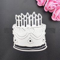 Wholesale diy paper cutting art online - Diy Paper Cut Carbon Steel Knife Die Big Cake Scrapbooking Paper Art Embossing Metal Cutting Dies Handmade Toys wy gg