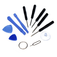 kit de reparación para teléfonos celulares al por mayor-Reparación de teléfonos móviles Apertura 11 en 1 Conjuntos Kit de herramientas Destornillador con estrella Pentalobe para teléfono ipad Samsung iPhone 8 X 5S 6 7