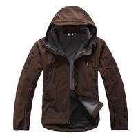 Wholesale skin jacket brown online - brown Lurker Shark Skin V Military Tactical Softshell Jacket Men Windbreaker Waterproof Hoodie Clothes TAD