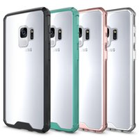 Wholesale Iphone Plastic Bumper - For Samsung S9 Case Clear Hybrid Soft TPU Bumper Back Cover Case For Samsung S9 S9 plus