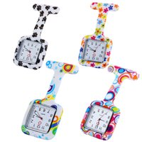 Wholesale leopard quartz silicone watch for sale - Group buy Square Dial Fashion Unisex Nurse Doctor Jelly Silicone Rubber camouflage quartz watch Zebra Leopard Prints Pocket candy medical gift watches