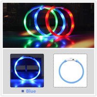 Wholesale usb flash small resale online - A30 New USB rechargeable Flashing Collars Pet Dog cat LED Collar Night Safety Glow collar