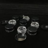 raucherbehälter groihandel-3ML / 3G Black Lids Plastikbehälter Smoke Jars Wholesale Plastikwachsbehälter zum Verkauf Freies Verschiffen nach weltweit