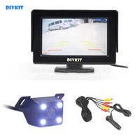DIYKIT Wlred 4.3 Inch TFT LCD Car Monitor + LED Night Vision Rear View Car Camera Parking Assistance System Ki