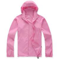 Wholesale skin jacket brown for sale - Lovers Sun Protection Skin Summer Jacket Women Men Spring Fashion Female Coats Denim Foldable Hooded Jackets Outerwear