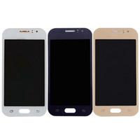 ingrosso regolazione del sensore-3 colori per Samsung Galaxy J1 Ace J110 J110F J110H J110FM Display LCD + Touch Screen Digitizer Sensor Glass Assembly Può regolare la luminosità