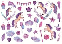 Wholesale New Cute Lovely unicorn Sheet Paper Stickers For Diary Scrapbook Book Decoration Diy Personalized Photo Album Cartoon Stickers