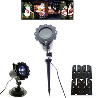 Wholesale stage lighting usa for sale - Group buy 4 Patterns Snow Laser Projector Lamp Snowflake LED Stage Light Christmas New Year Party Halloween Projector Outdoor Indoor Lighting