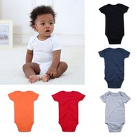 59212999762 Baby Rompers Newborn Baby Jumpsuits Unisex Short Sleeve Jumpsuit Infant  Outfit Kids Clothes for Boy Girl 100%Cotton 11Colors