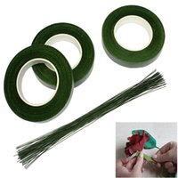 Wholesale flower wrapping materials - 30M Roll Decorative Flowers Floral Tape Stem Wrap DIY Green Gardening Tape Material For Wedding Valentine Party Home Decorative HH7-928