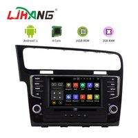 Wholesale vw golf car gps - LJAHNG 8 Inch Android 7.1 Car DVD Player For VW Golf 7 2013 GPS Navigation Radio Multimedia Stereo Headunit autoaudio 2GB RAM