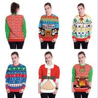 klassische glocken großhandel-3D Digitaldruck Kleidung Frohe Weihnachten Niedlichen Sweatshirt Klassische Socken Glocken Weihnachtsmann Muster Mann Frauen Festival Kleidung 32rx Ww