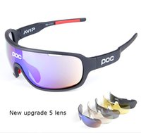 Wholesale Running Sunglasses Women - POC Polarized 9 Colors Sun Glasses 5 Lens Brand 2017 Polarized POCs Sunglasses For Men Women Sport Cycling Bicycle Running TR90 Sunglasses