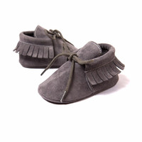 Wholesale Bebe Lace - G20 Newborn Baby Boy Girl Baby Moccasins Soft Moccs Shoes Bebe Fringe Soft Soled Non-slip Footwear Crib Shoes PU Suede Leather