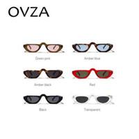 lunettes de soleil goth achat en gros de-OVZA Plat Top lunettes de soleil Hommes Punk Lunettes de Soleil Femmes Goth Style Lunettes De Soleil Marque Conçu Mode Rectangle Cadre S1082