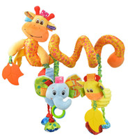 Wholesale Giraffe Crib Bedding - Wholesale- 2017 New Arrival Cute Musical Giraffe Multifunctional Crib Hanging Bed Bell Educational Toys Rattles For Kids