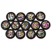 ingrosso chiodi neri art-13 tipi di adesivi per unghie artistici irregolari perline in lega di strass Accessori per decorazioni in nail art con catene in lega nera