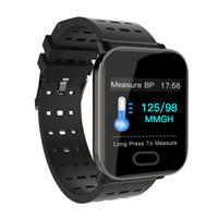 ingrosso orologi di grande fascia-A6 Big Colour Smart Watch Monitor di frequenza cardiaca Sport Fitness Tracker Sonno Monitor impermeabile Sport Watch Band per IOS Android regali