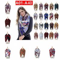 Wholesale oversize plaid scarf for sale - Women Plaid Scarf cm Colors Cashmere Shawls Tassel Scarves Oversize Blanket Pashmina Tartan Scarf OOA5654